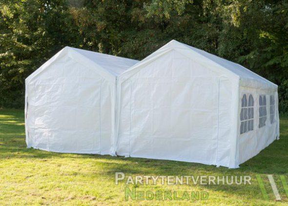 Partytent 6x6 meter achterkant huren - Partytentverhuur Groningen