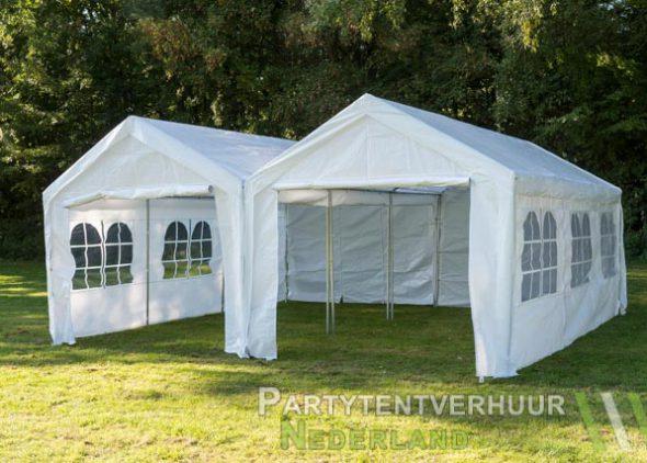 Partytent 6x6 meter voorkant huren - Partytentverhuur Groningen