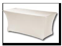 Huren partytafel met witte rok