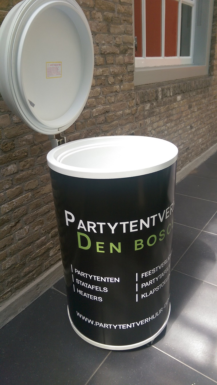 Glasdeur koelkast huren Partytentverhuur Den Bosch