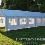 Partytent 6x12 meter zijkant rechts huren - Partytentverhuur Groningen