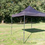 Easy up tent 3x3 meter schuin huren - Partytentverhuur Groningen