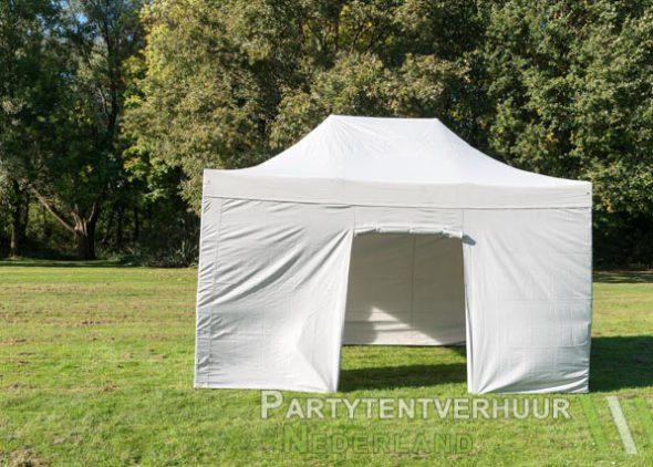 Easy up tent 3x4,5 meter voorkant huren - Partytentverhuur Groningen