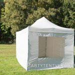 Easy up tent 3x4,5 meter voorkant schuin huren - Partytentverhuur Groningen