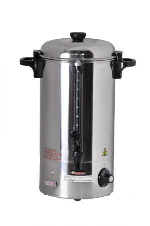 Warme dranken ketel met een inhoud van 10 liter geschikt voor glühwein en het koken van theewater