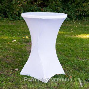 Statafel met rok wit huren - Partytentverhuur Groningen