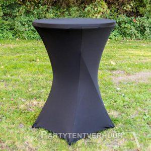 Statafel met rok zwart huren - Partytentverhuur Groningen