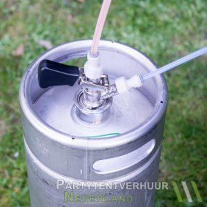 Biertap aangesloten aan fustbier huren - Partytentverhuur Groningen