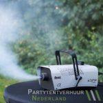 Rookmachine actiefoto huren - Partytentverhuur Leeuwarden